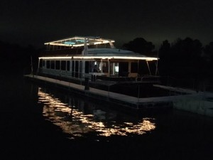 Yacht Charter at night on Lake Conroe