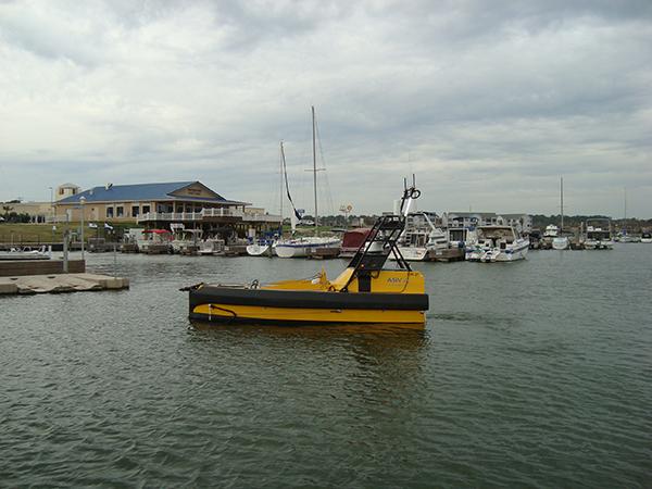 Company test  survey vehicle at Lake Conroe.