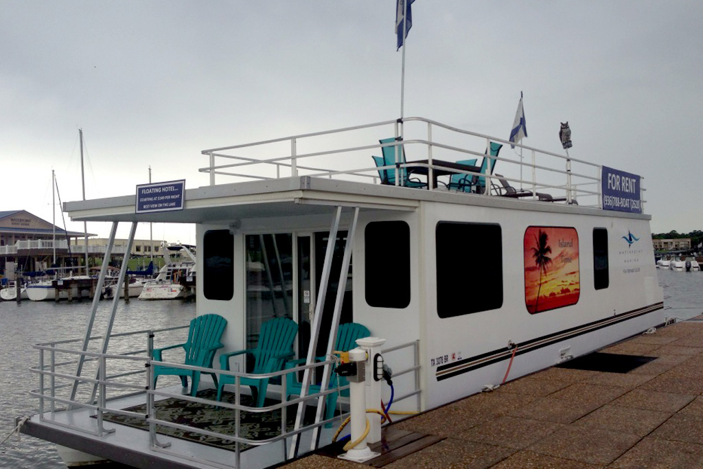 Lake Conroe Boat Rentals - Houseboat
